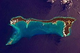Vue satellitaire de Cat Island