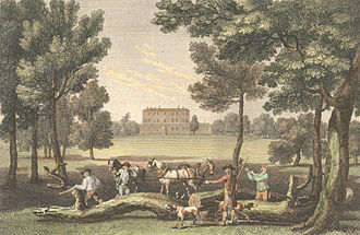 Caversham Park - Print of Caversham Park in 1790–1799 by W. and J. Walker