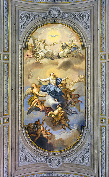 "File:Ceiling of the ""Assumption of Mary"" in Santa Maria Immacolata a via Veneto (Rome).jpg"