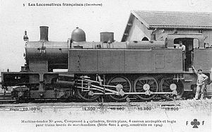 Ceinture 4001 to 4005 - Ceinture 4005, later Nord 4.005 and SNCF 240.TA.5