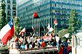 Celebración tras victoria del No en plebiscito de 1988 2.jpg