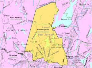 Bloomingdale, New Jersey - Image: Census Bureau map of Bloomingdale, New Jersey