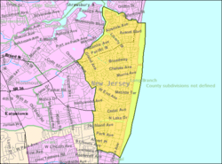 Census Bureau map of Long Branch, New Jersey