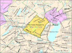 Census Bureau map of Mountain Lakes, New Jersey