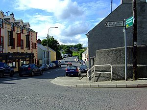 Kilmacrennan - The crossroads on Kilmacrennan main street