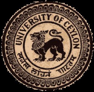 University of Ceylon former university; only university in Sri Lanka from 1942 until 1972.