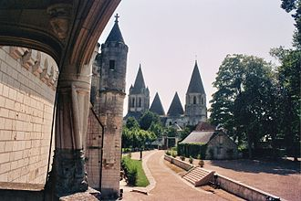 Loches - The church of St Ours from The royal lodge