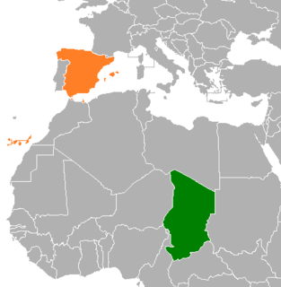 Chad–Spain relations