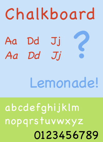 Chalkboard (typeface) - The Chalkboard font