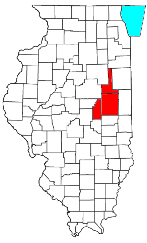 Champaign–Urbana metropolitan area - Image: Champaign Urbana Metropolitan Area