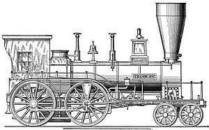 Taunton Locomotive Manufacturing Company - The Champlain, built by Taunton Locomotive Manufacturing Company in 1849 for the Hudson Valley Railroad