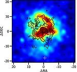 Chandra image of NGC 5846 with Hα+Nii contours.jpg