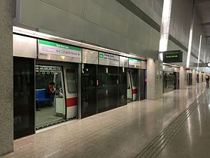 Changi Airport MRT Station (EWL - Changi Branch) - C651 at Platform B.jpg