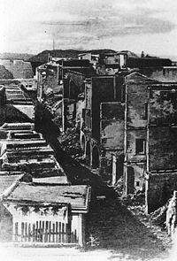 Chania in 1897 after being torched by the Turks.
