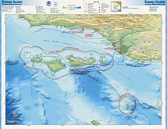 Channel Islands National Marine Sanctuary - Map of Channel Islands sanctuary