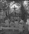Chaplain Kenny Lynch conducts services north of Hwachon, Korea, for men of 31st Regiment. - NARA - 531414.tif