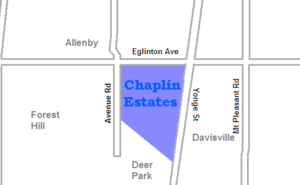 Chaplin Estates - Image: Chaplin Estates map