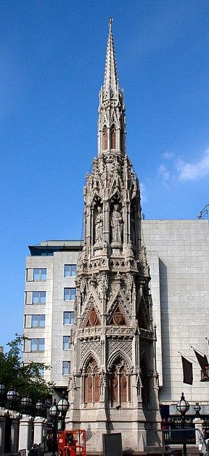 Queen Eleanor Memorial Cross - The cross in 2011