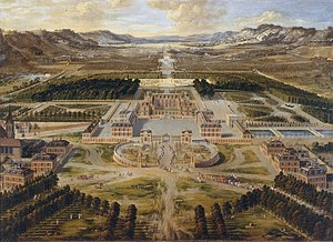 History of the Palace of Versailles - The château circa 1668, as painted by Pierre Patel (Versailles Museum)