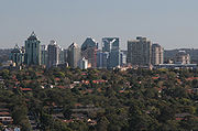 Chatswood NSW skyline