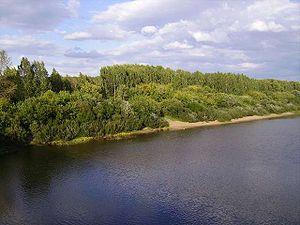 Cheptsa River - Cheptsa River near Glazov
