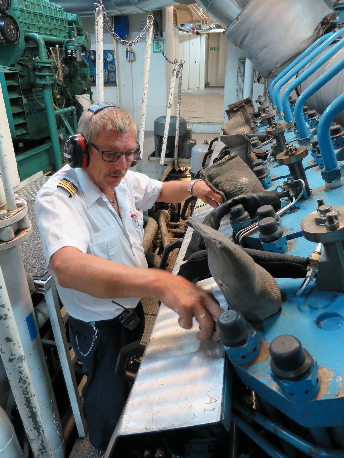Boat Engine Room: Chief Engineer