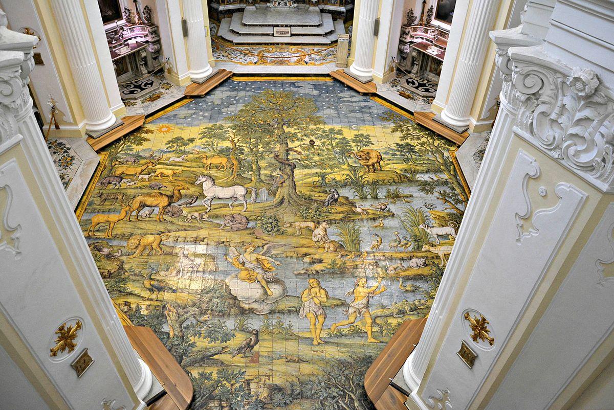Pavimento Della Chiesa Di San Michele Arcangelo Anacapri
