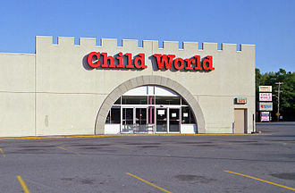 Child World - The former Saugus, Massachusetts Child World store, taken in 1993. This was a typical store using the new design right before Child World was liquidated.