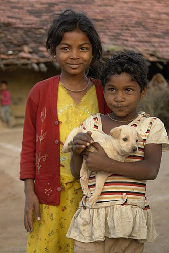 Bhil people - Image: Children in Raisen district, MP, India