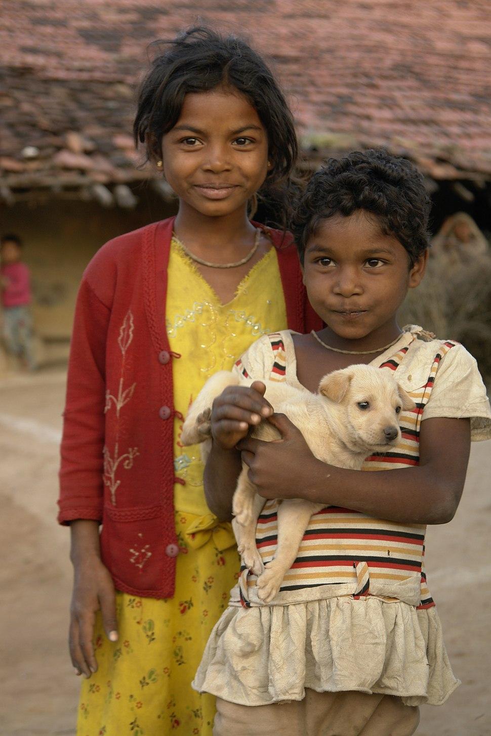 Children in Raisen district, MP, India