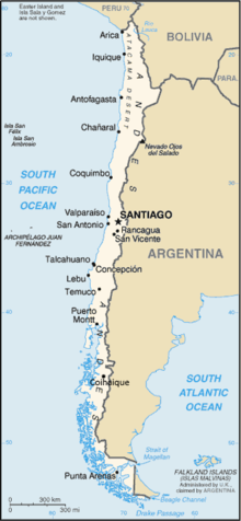 List Of Cities In Chile Wikipedia - Argentina map cities
