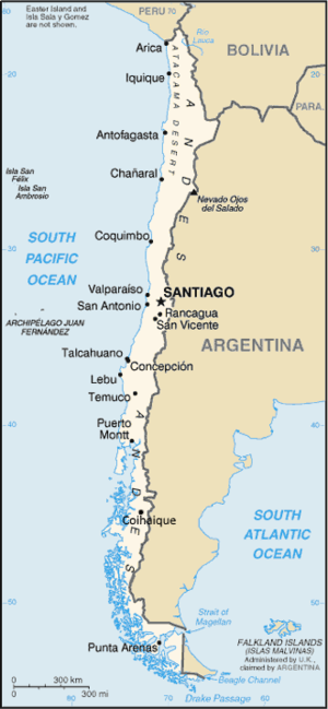 An enlargeable basic map of Chile