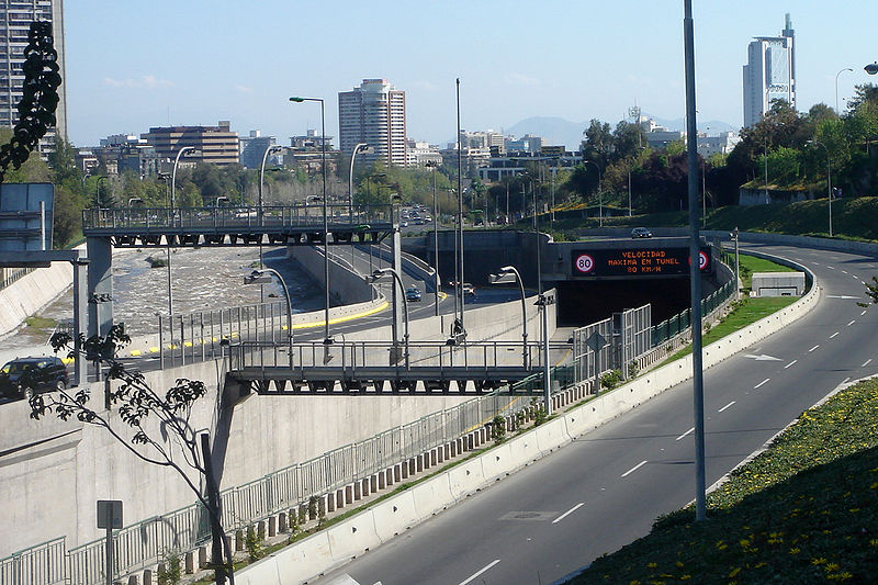 Chile Costanera Norte crossing downtown Santiago.JPG