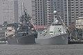 Chinese missile destroyer Zhengzhou and Russian missile cruiser Varyag.jpg