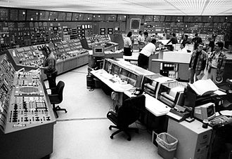Nuclear power plant - The control room at an American nuclear power station