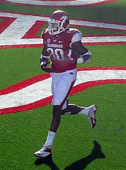 Chris Gragg in an Arkansas jersey