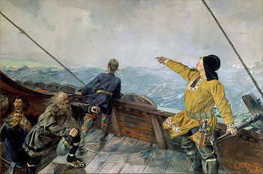 Christian Krohg - Leiv Eirikson discovering America - Google Art Project