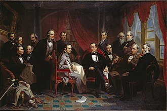 John P. Kennedy - Washington Irving and his Literary Friends at Sunnyside; third from right in back is John Pendleton Kennedy.