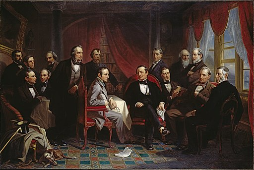 Christian Schussele - Washington Irving and his Literary Friends at Sunnyside - Google Art Project