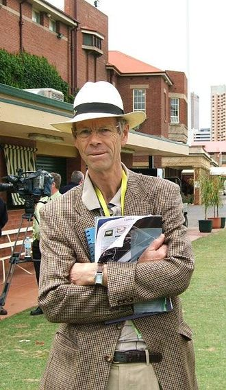 Christopher Martin-Jenkins - Martin-Jenkins at the Adelaide Oval, during the England tour of Australia in 2006–07