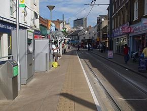Church Street tramstop look east.JPG