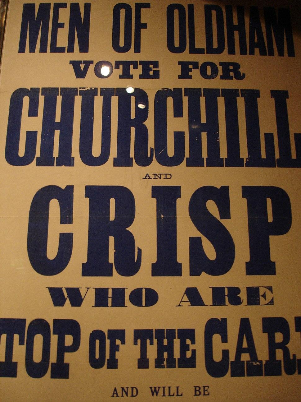 Churchillelectionposteroldham