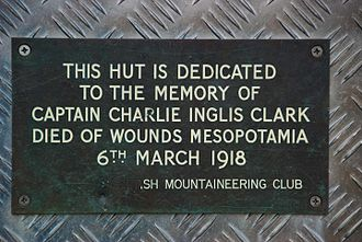 Ben Nevis - Memorial Plaque on the door of the CIC Hut