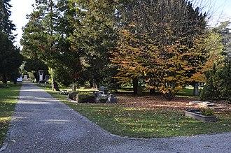 Cimetière des Rois - Central pathway, Plainpalais cemetery