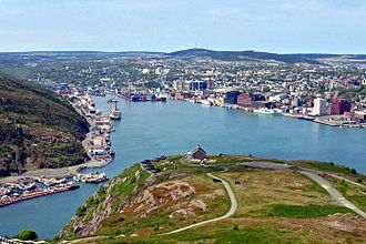 Downtown St. John's - Downtown St. John's seen from Signal Hill
