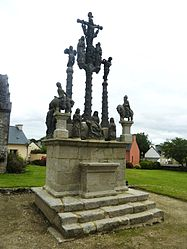 The calvary in Cléden-Poher
