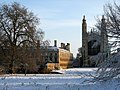Clare and King's Chapel in the snow - geograph.org.uk - 1624604.jpg
