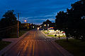 Claremont Avenue at night Ashland Ohio.jpg