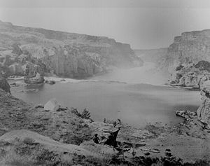 Geological Exploration of the Fortieth Parallel - Image: Clarence King Shoshone Canyon and Falls