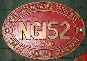 South African Class NG G16 2-6-2+2-6-2 - Image: Class NG G16 152 (2 6 2+2 6 2) ID